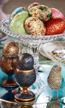 Decorated eggs at Iranian wedding