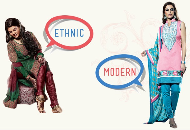 Ethnic and modern kurtis