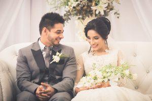 South African Muslim bride and groom