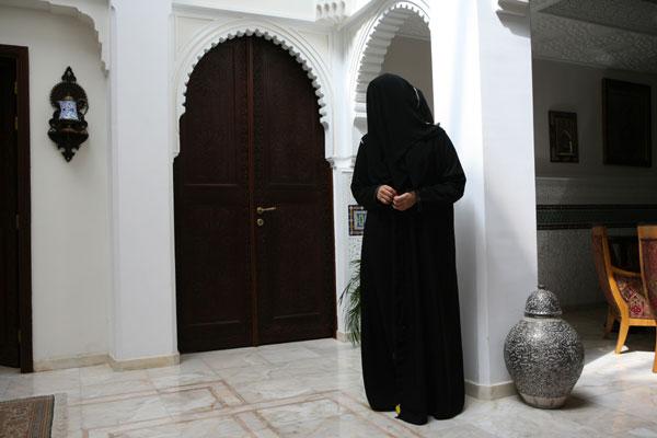 Saudi teenage girl at home